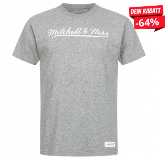 Mitchell  Ness Script Herren T Shirt MN BRA SCRPTLOGOTRAD GRYWHT