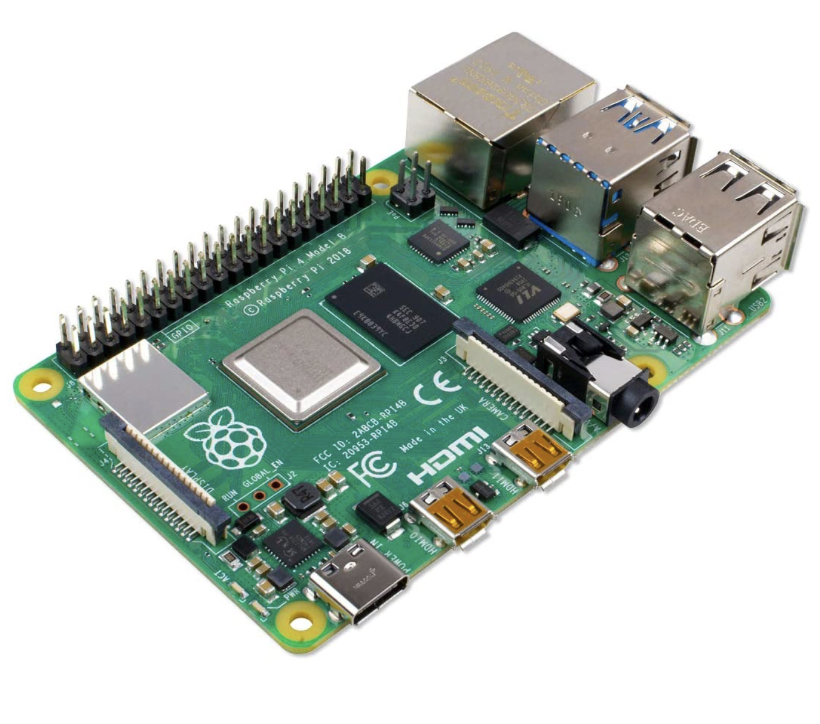 Raspberry Pi 4 Modell B (2GB RAM, 4K-Support, USB-C, BT 5.0, etc.)