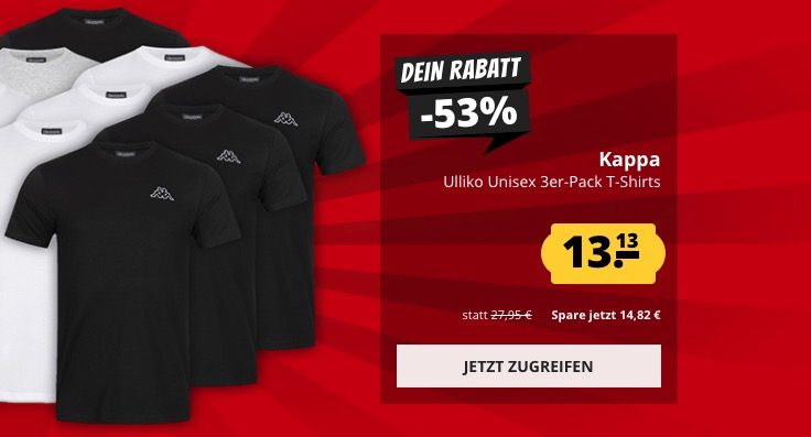 Sportspar 3er Pack Kappa Shirts
