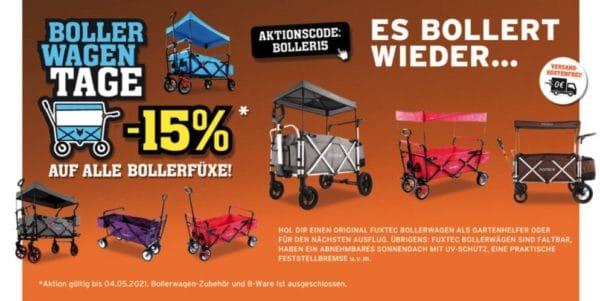 🧺👨👩👧👦 15% Gutschein auf alle Fuxtec Bollerwagen