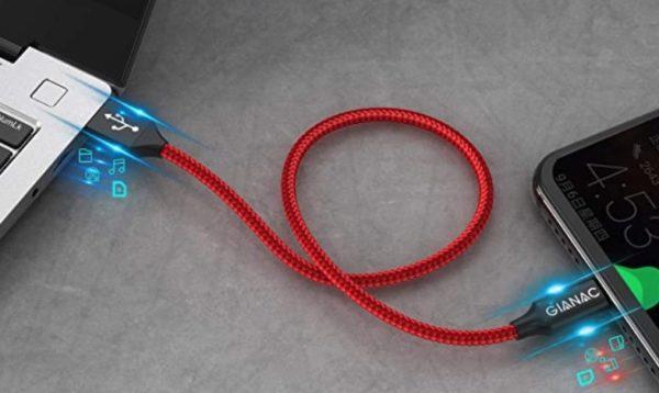 4x Gianac USB A auf USB C Kabel 03   3 Meter