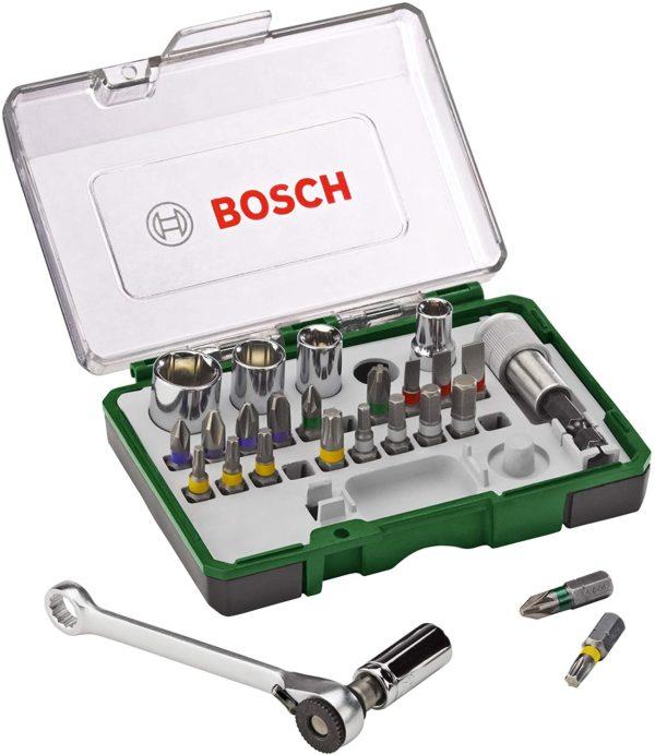 Bosch 27tlg. Schrauberbit- und Ratschen-Set