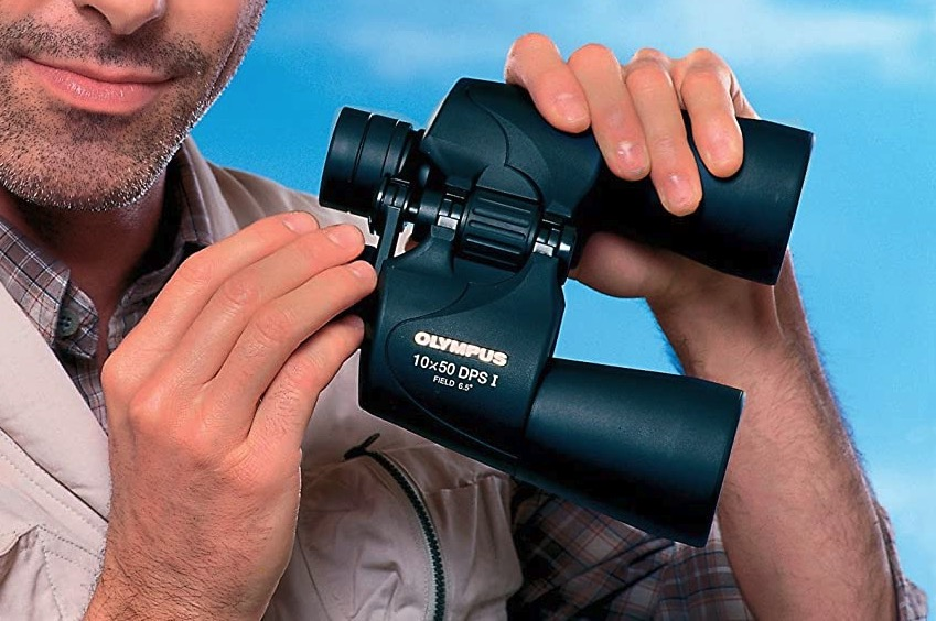 Olympus Trooper 10 x 50 DPS I Fernglas mit Tasche schwarz