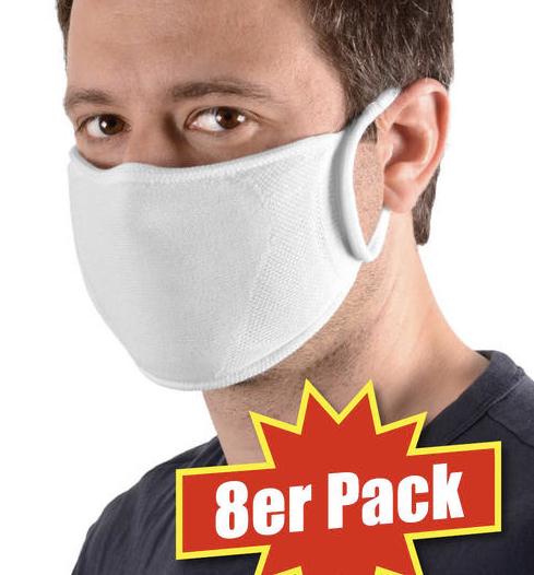Sensomed 8er Pack waschbare Schutzmasken   Schutzmasken 2020 05 07 15 58