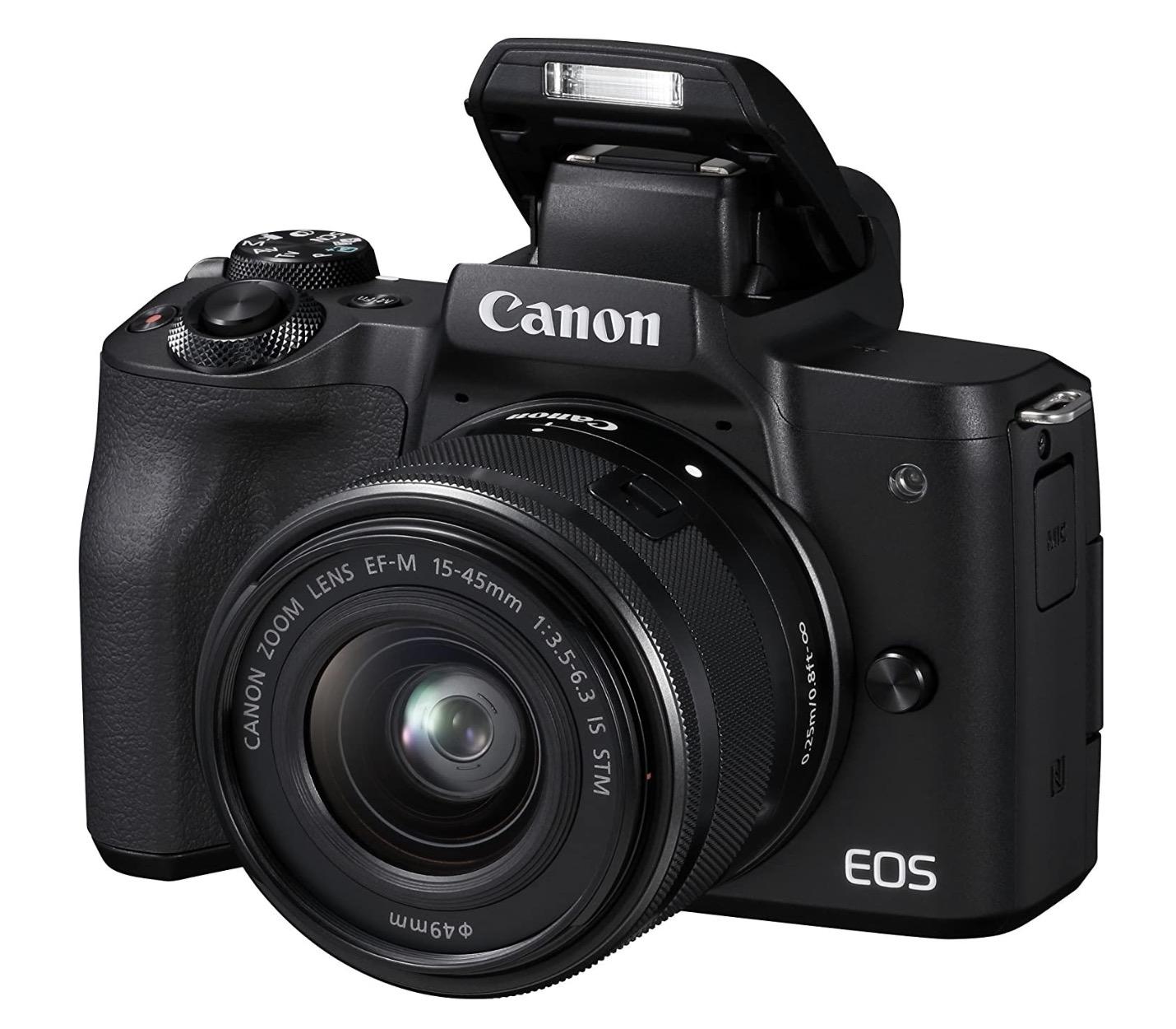 Canon EOS M50 📸 Systemkamera mit 15-45mm Objektiv, Tasche & 16GB SD
