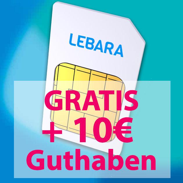 lebara 10 euro guthaben gratis sq