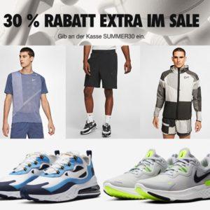 Letzte Chance ✔️ 30% EXTRA auf NIKE-Sale mit Sneakern & Sportswear