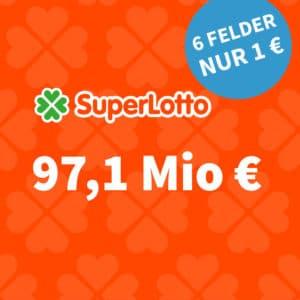 97 Mio. € Jackpot 😯 SuperLotto für nur 1€ 🍀 (Bestandskunden) // Gratis-Tipp für NK