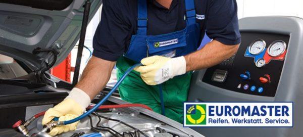 Bei EUROMASTER Wartung eurer Klimaanlage inkl Kaeltemittel