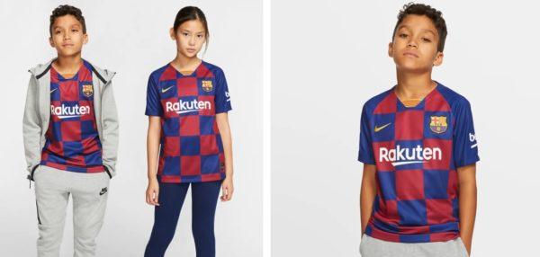 Big Kids Soccer Jersey FC Barcelona