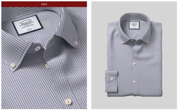 Charles Tyrwhitt Slim Hemd mit Karos