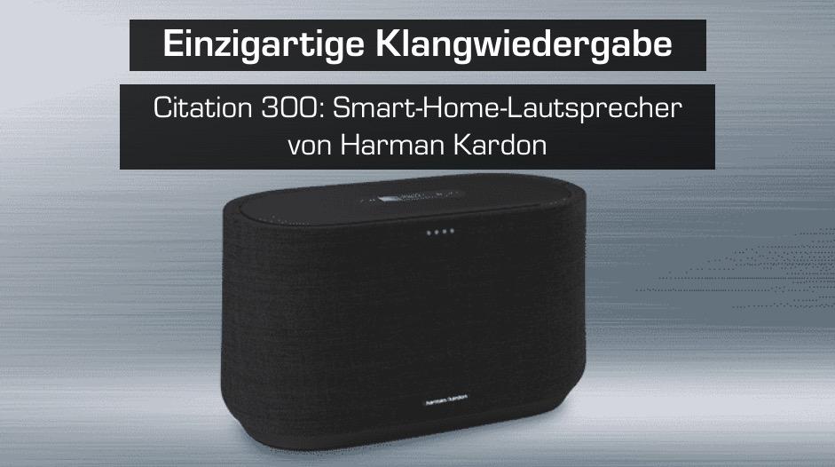 HARMAN KARDON Citation 300 Smart Speaker Schwarz