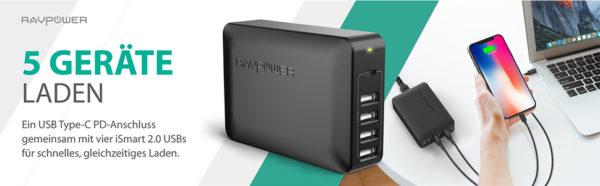 RAVPower 60W USB C Ladegeraet