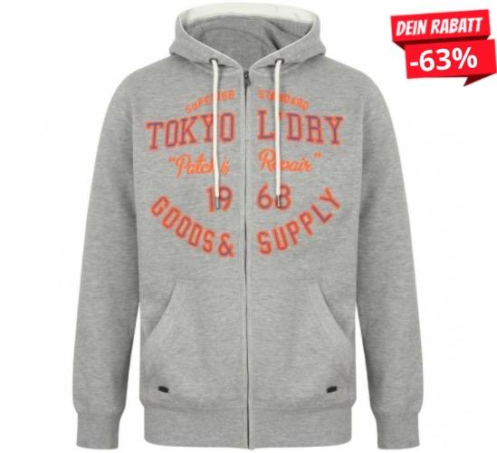 Tokyo Laundry Harper Herren Hoodie 1E12508 Light Grey Marl 1