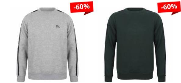 Tokyo Laundry Nocona Point Herren Sweatshirt 1D13172 Lt Grey Marl