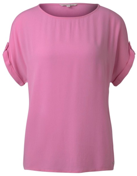 Tom Tailor Denim Damen Blusenhirt mit Turn Ups