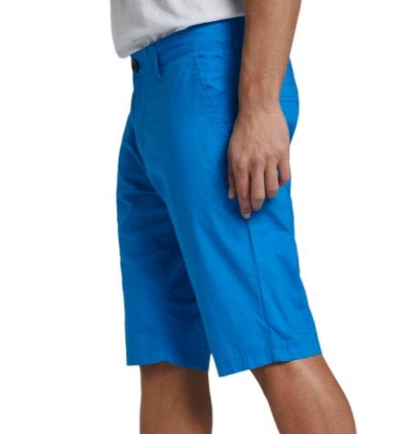 Tom Tailor Herren Chino Short Josh Regular Slim Fit   Blau Gruen Rot 1