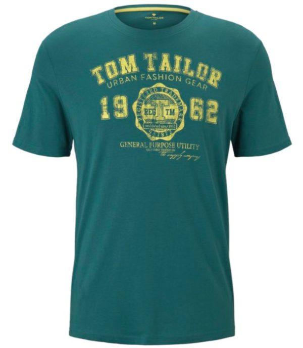Tom Tailor Herren T Shirt mit Logo Print   Regular Fit 1