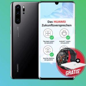 Eff. kostenlos 😬📲 o2 Allnet mit 12GB LTE + Huawei P30 Pro + Watch + Waage