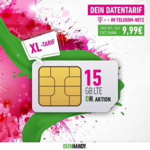 📡 Telekom 15GB LTE Daten-Flat für 9,99€ mtl. (SIM-Only)