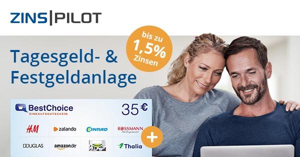 zinspilot 35 euro cashback