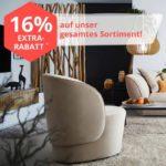 16% Gutschein auf Möbel & mehr + Gratis-Versand, z.B. Schränke, Sofas, Heimtextilien usw.