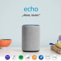 Amazon Echo 3. Generation smarter Lautsprecher mit Alexa Hellgrau Stoff