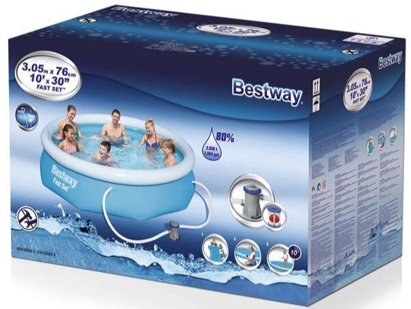 Bestway Fast Set Pool 305 x 76 inkl. Filteranlage