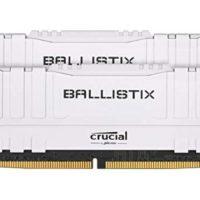 Crucial Ballistix BL2K8G26C16U4W 2666 MHz DDR4 DRAM Desktop Gaming Speicher Kit 16GB 8GB x2 CL16 weiss
