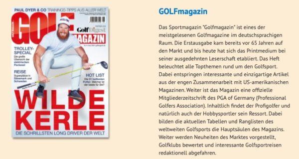 Abo Golf Magazin