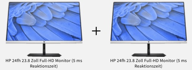 HP 24fh 238 Zoll Full HD Monitor