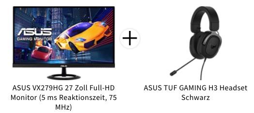 Jetzt ASUS Full HD Monitor fuer 19043  gratis Headset sichern