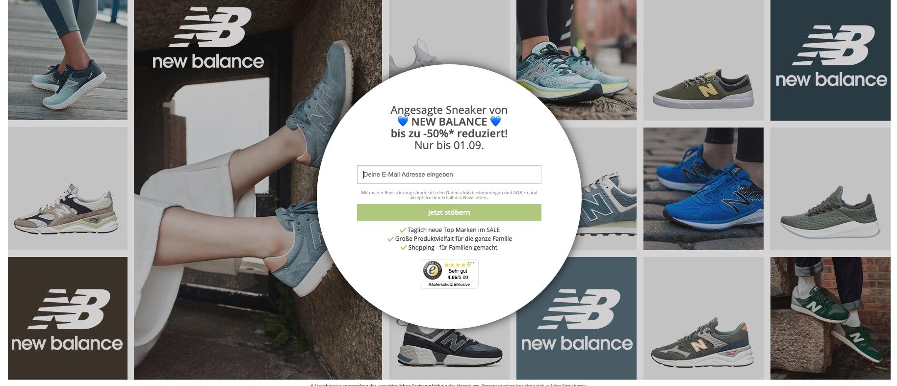 Limango New Balance Sneaker mit bis zu 54