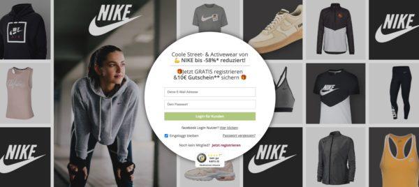 Nike Sale bei Limango
