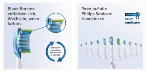 Philips Sonicare Premium Ersatz Zahnbürsten
