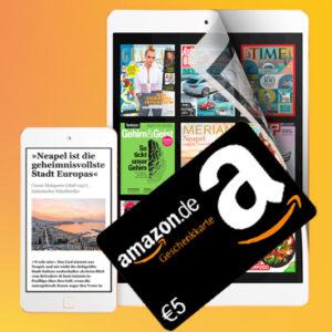 4,01€ GEWINN 😲 5€ Amazon.de-Gutschein* + 3 Monat Readly für 0,99€ 📚