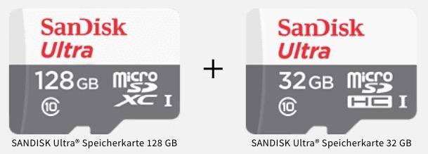 SanDisk Ultra 128GB Micro SDXC fuer 19 statt 27 Mit SanDisk Ultra 32GB Micro SDXC
