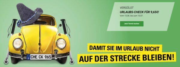 Vergoelst  KFZ Urlaubs Check fuer nur 965 Euro