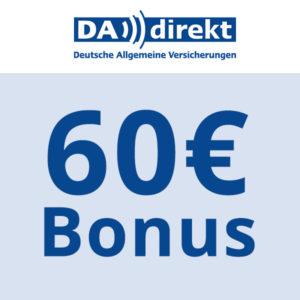 KFZ-Knaller 🚗 Bis zu 60€ Bonus + 10% Extra-Rabatt bei DA direkt