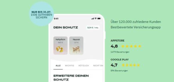 getsafe 150 euro app guthaben 750x356 1