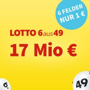 Lotto 6aus49 💵🍀 17 Mio. € Jackpot: 20 Felder für 16€ für Bestandskunden