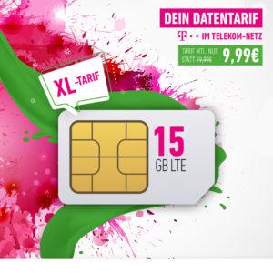 📡 Telekom-Netz: 15GB LTE Daten-Flat für 9,99€ mtl. + 10€ Amazon.de Gutschein
