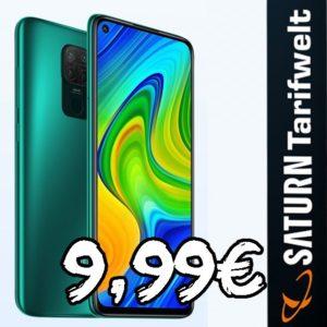 [TOP] Nur 9,99€ mtl. 📱 Xiaomi Redmi Note 9 + o2 Allnet-Flat mit 5GB LTE