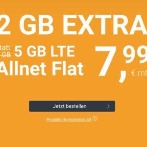 🤩 5GB LTE Allnet-Flat für 7,99€ mtl. (ohne Laufzeit, Drillisch o2)