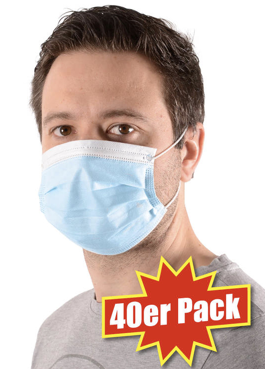 40er Pack Einweg Mund Nasen Schutzmasken   Pflege Herren 2020 08 18 12 19