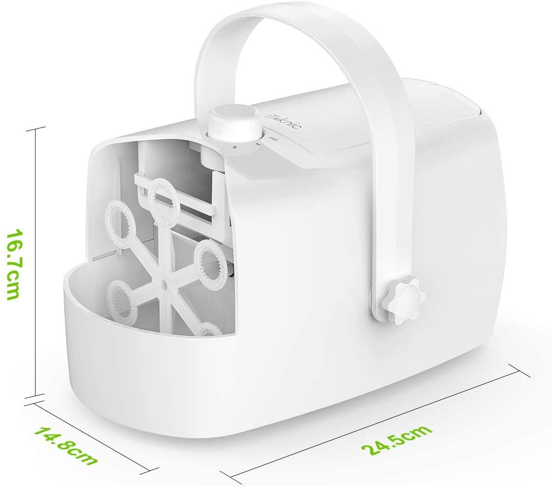 Abmessungen Tragbare Seifenblasenmaschine, iTeknic Bubble Machine