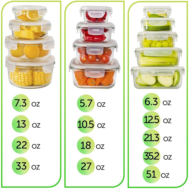 Prep Naturals Vorratsdosen-Set aus Glas 13 x Glasbehälter