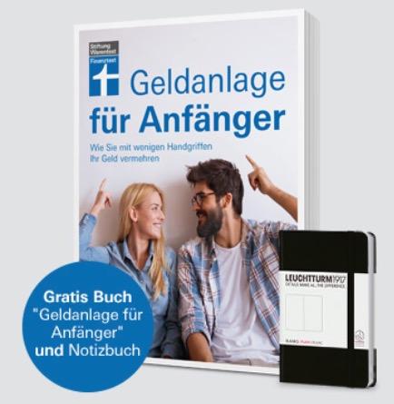 9x Stiftung Finanztest  22Geldanlage fuer Anfaenger22  Notizbuch