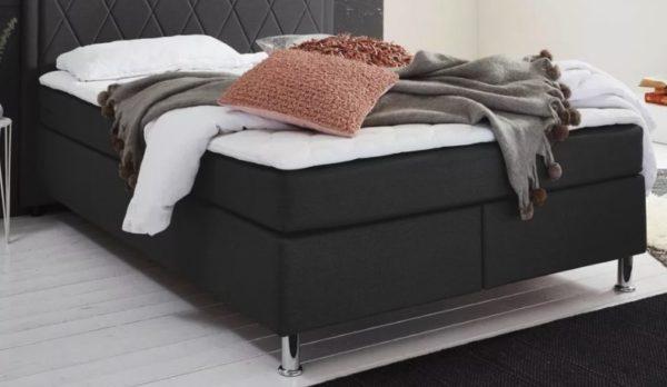 ATLANTIC home collection Boxbett mit Tonnentaschenfederkern Matratze und Topper wahlweise mit Bettkasten