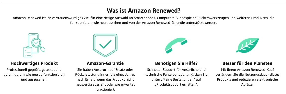 Amazon Renewed Garantie 1 Jahr